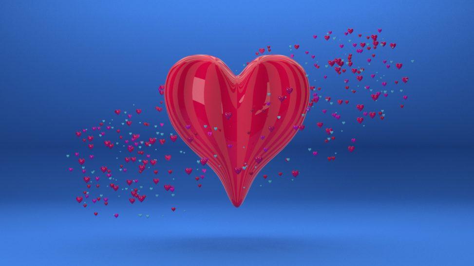 3d heart love
